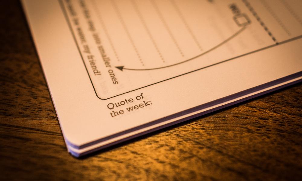 52 steps workbook quote of the week