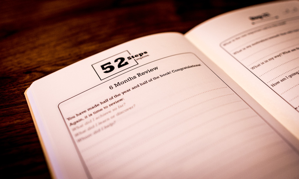 52 steps workbook review page
