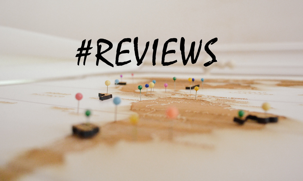 #reviews map with pins
