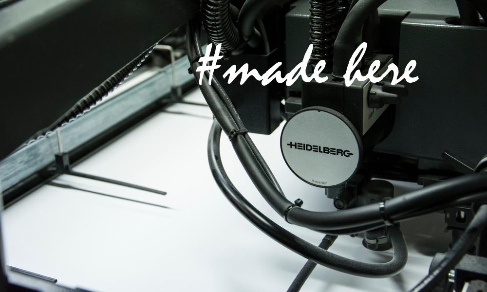 #made here, Heidelberg printer