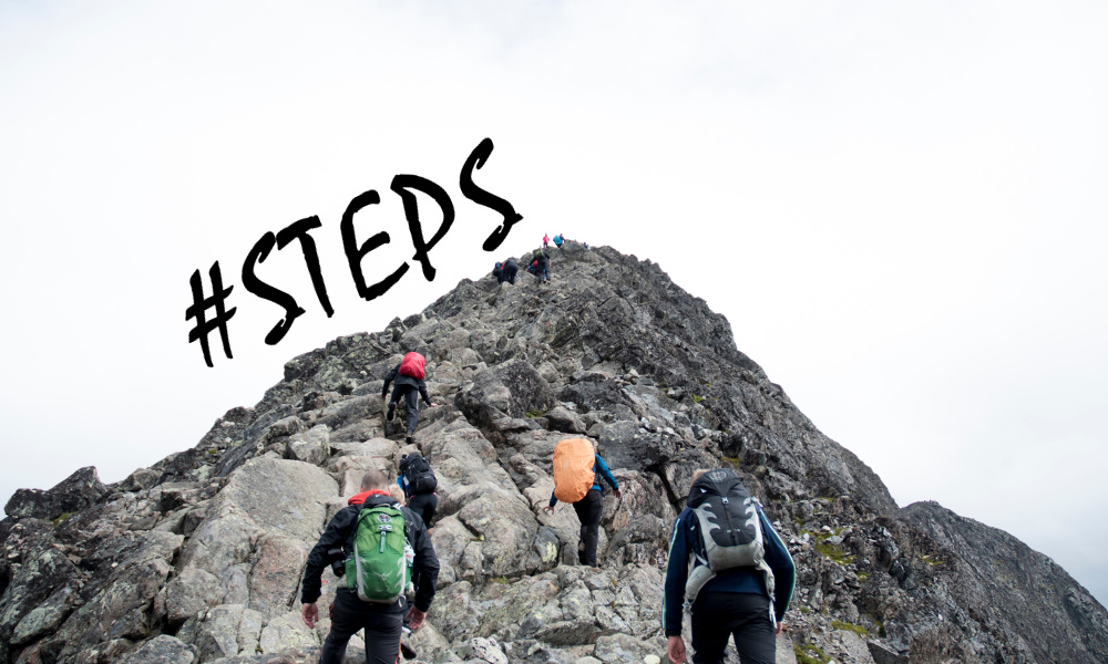 #steps mountain climbing